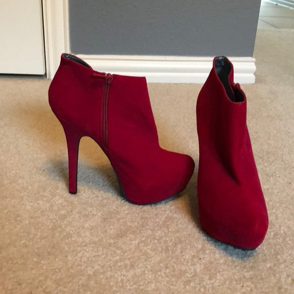 Dollhouse Shoes - Red boot heels
